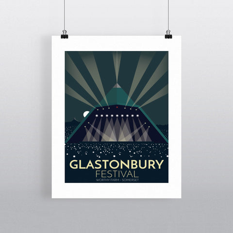 The Glastonbury Festival 11x14 Print