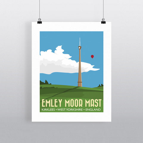 The Emley Moor Mast, Kirklees, Yorkshire 11x14 Print