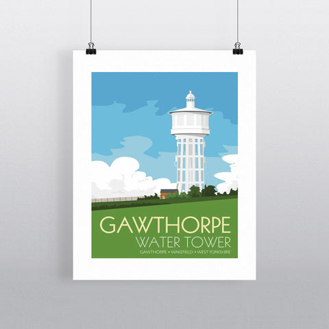 The Gawthorpe Water Tower, Wakefield, Yorkshire 11x14 Print