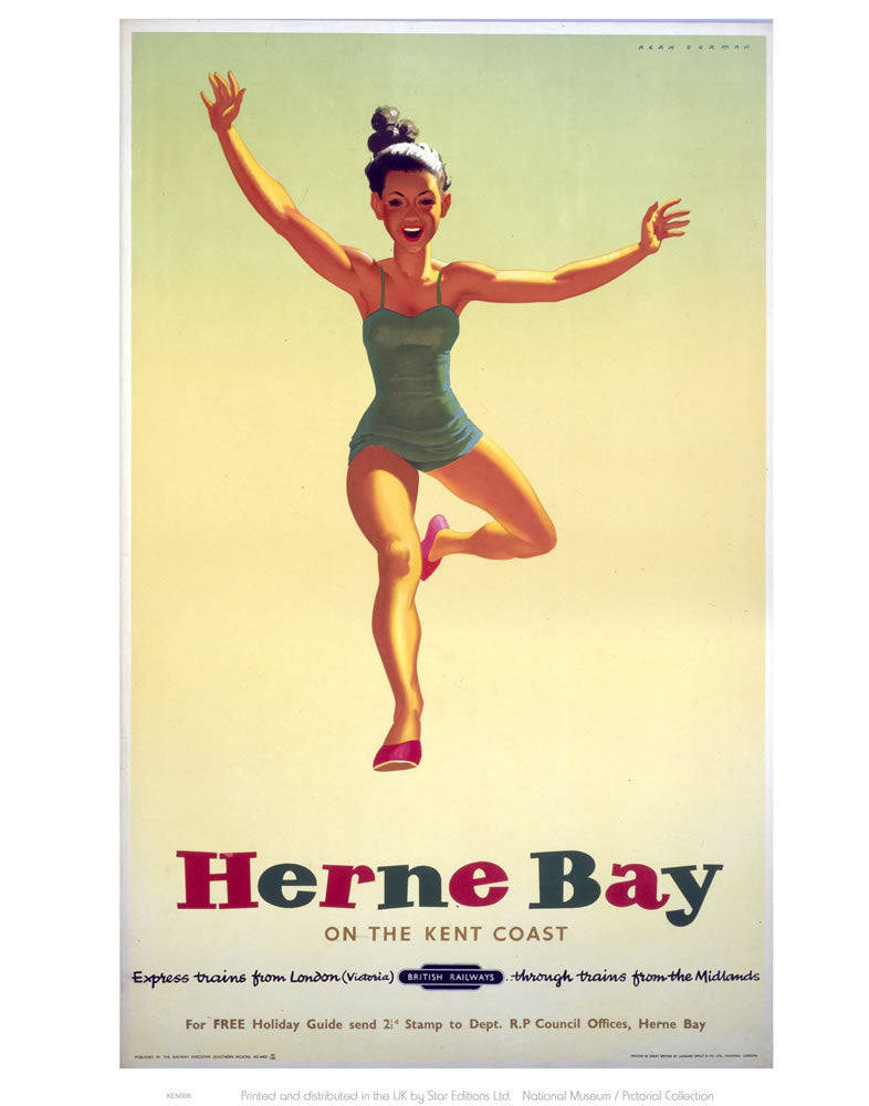 "Herne Bay Girl in Green Costume 24"" x 32"" Matte Mounted Print"