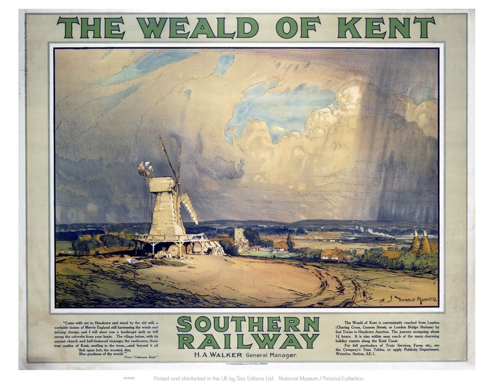 "The Weald of Kent 24"" x 32"" Matte Mounted Print"