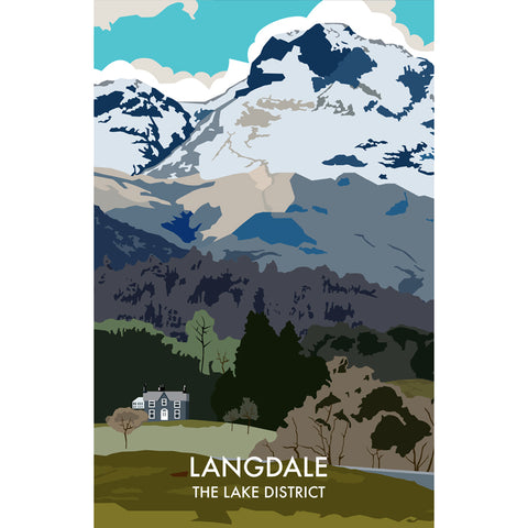 LHOPNW013: Langdale The Lake District. T Shirt