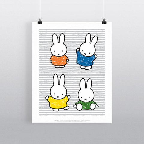 MIFFY056: Miffy Coloured Dresses