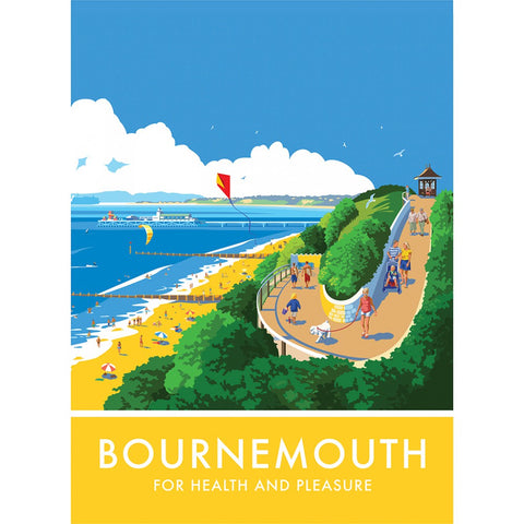 Bournemouth, Dorset 20cm x 20cm Mini Mounted Print