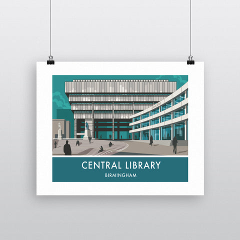 Central Library, Birmingham, West Midlands 20cm x 20cm Mini Mounted Print