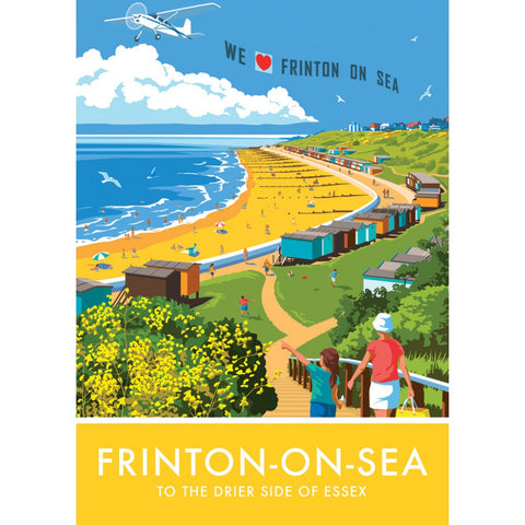 Frinton on Sea, Essex 20cm x 20cm Mini Mounted Print