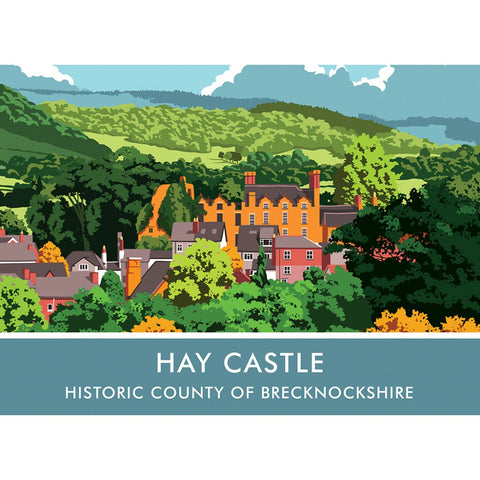 Hay Castle, Herefordshire 20cm x 20cm Mini Mounted Print