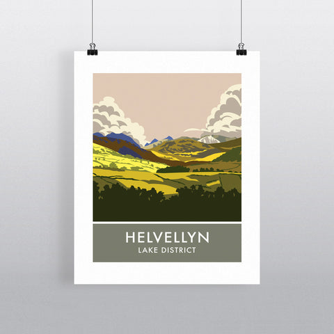 Helvellyn, Lake District, Cumbria 20cm x 20cm Mini Mounted Print