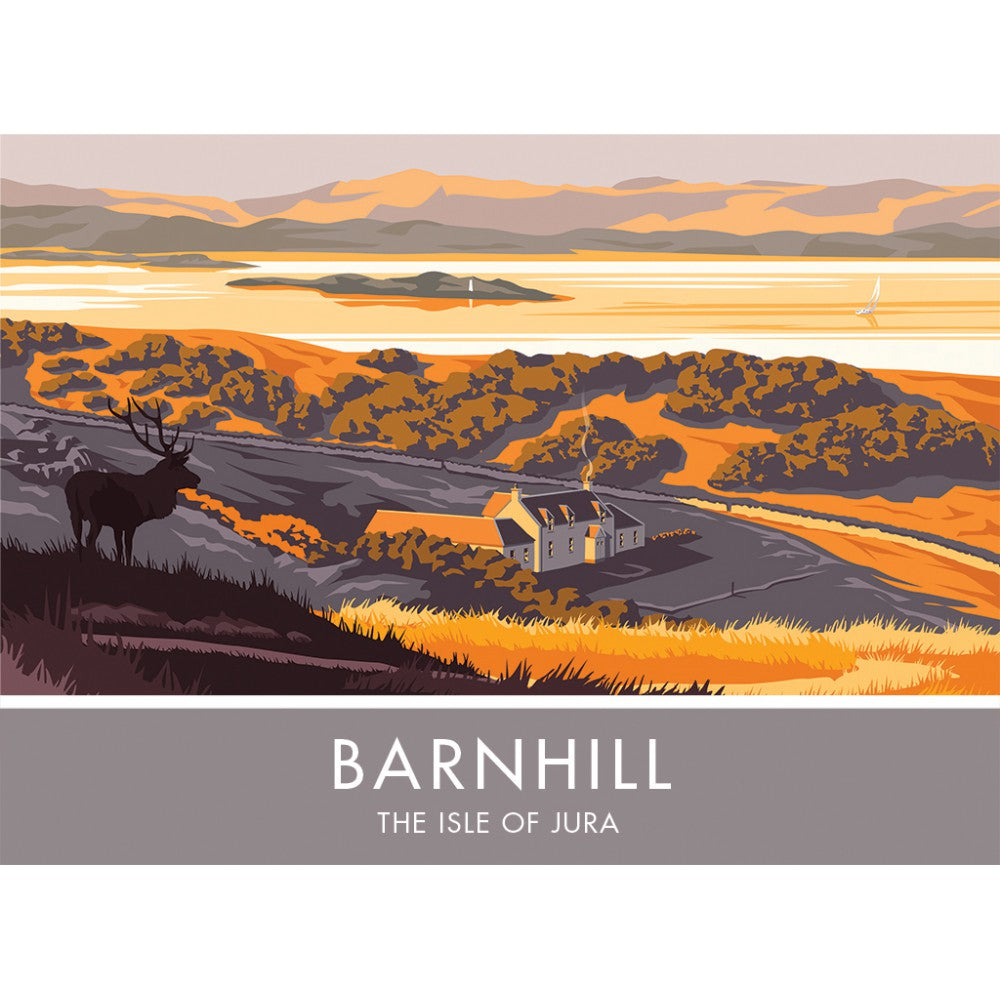 Barnhill, The Isle of Jura, Scotland 20cm x 20cm Mini Mounted Print
