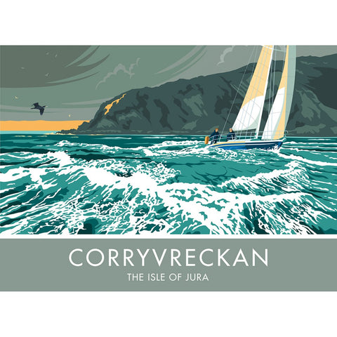 Corryvreckan, The Isle of Jura, Scotland 20cm x 20cm Mini Mounted Print