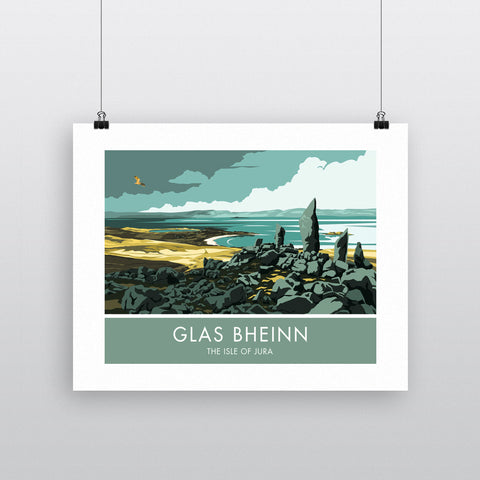 Glas Bheinn, The Isle of Jura, Scotland 20cm x 20cm Mini Mounted Print