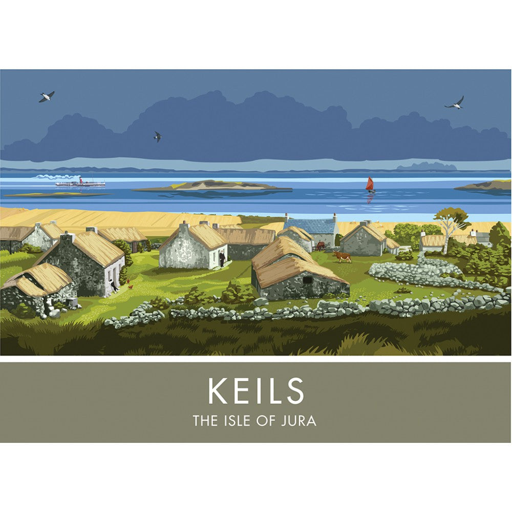 Keils, The Isle of Jura, Scotland 20cm x 20cm Mini Mounted Print