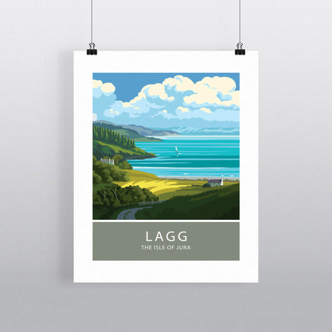 Lagg, The Isle of Jura, Scotland 20cm x 20cm Mini Mounted Print
