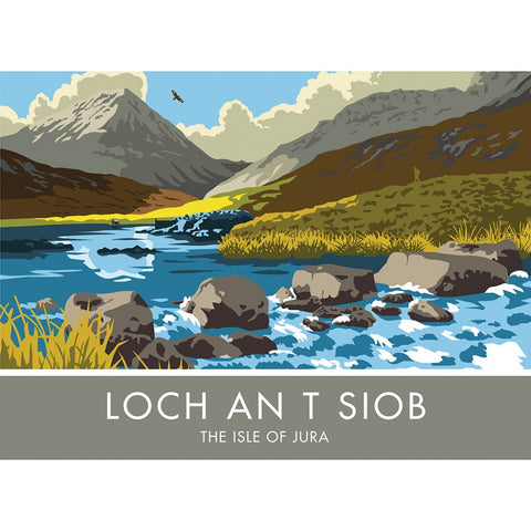 Loch An T Siob, The Isle of Jura, Scotland 20cm x 20cm Mini Mounted Print