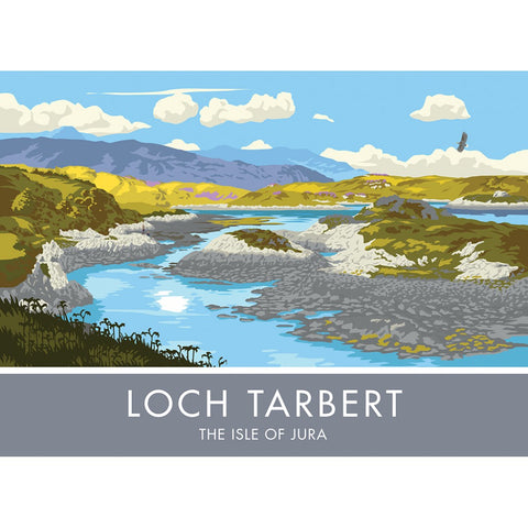 Loch Tarbert, The Isle of Jura, Scotland 20cm x 20cm Mini Mounted Print