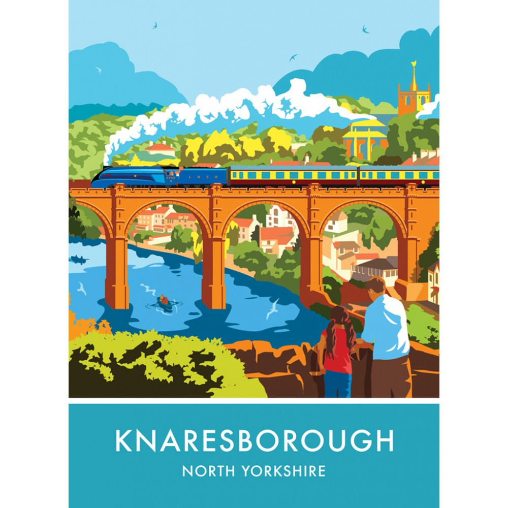 Knaresborough, North Yorkshire 20cm x 20cm Mini Mounted Print