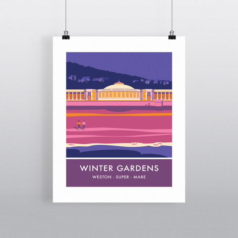 Winter Gardens, Weston Super Mare, Somerset 20cm x 20cm Mini Mounted Print