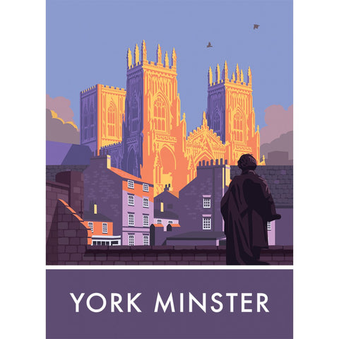 York Minster, York, Yorkshire 20cm x 20cm Mini Mounted Print