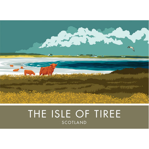 The Isle of Tiree, Scotland 20cm x 20cm Mini Mounted Print