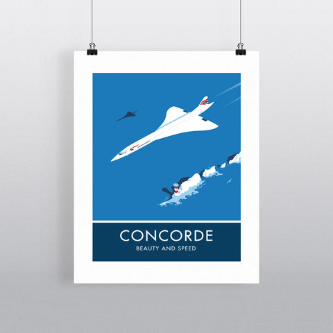 Concorde 20cm x 20cm Mini Mounted Print