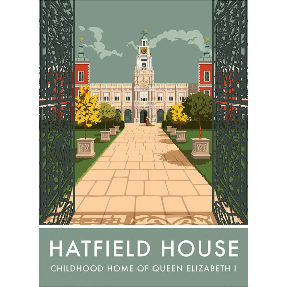 Hatfield House, Hatfield, Hertfordshire 20cm x 20cm Mini Mounted Print