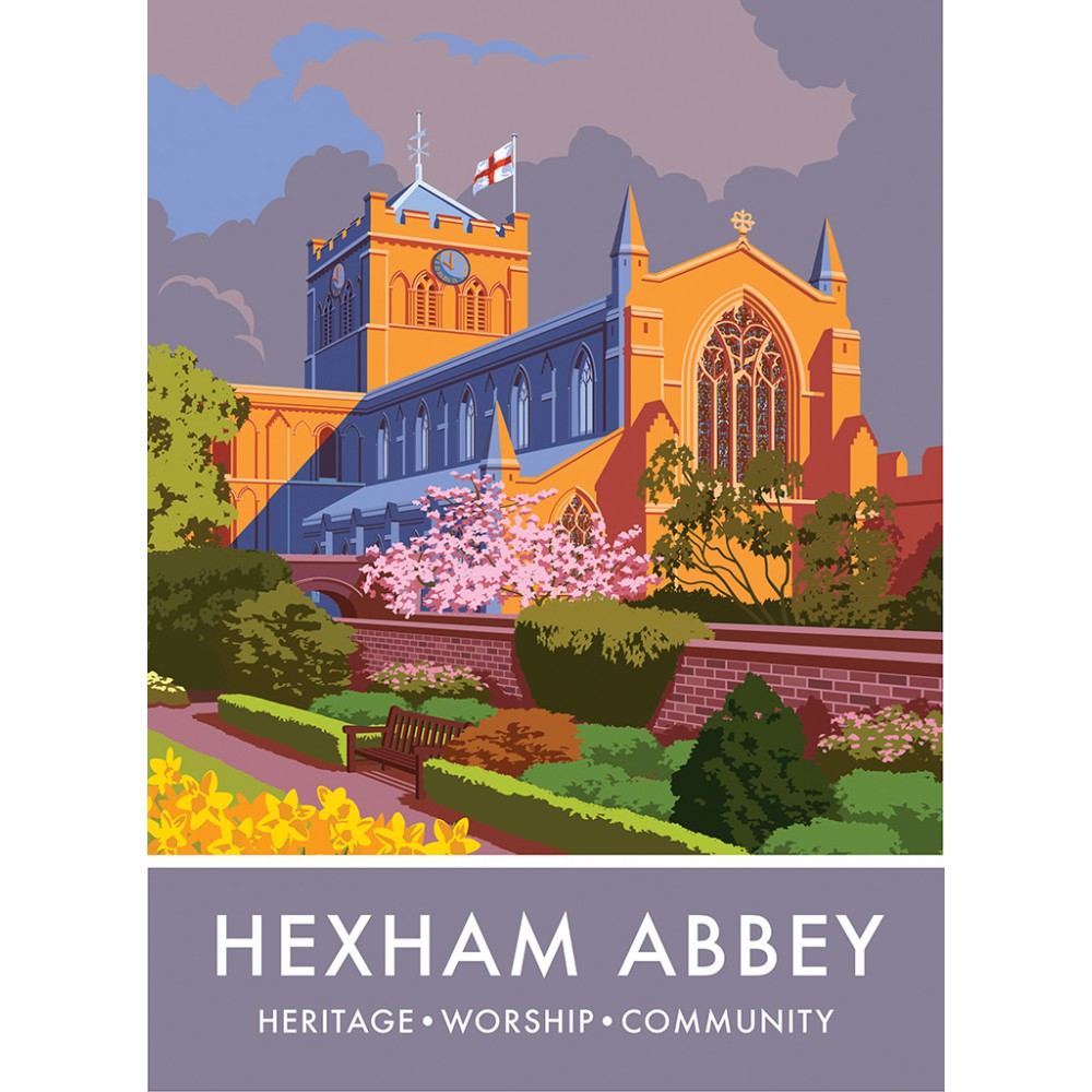 Hexham Abbey, Hexham, Northumberland 20cm x 20cm Mini Mounted Print