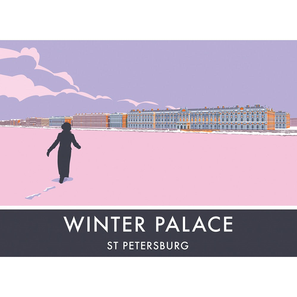 The Winter Palace, St Petersburg, 20cm x 20cm Mini Mounted Print