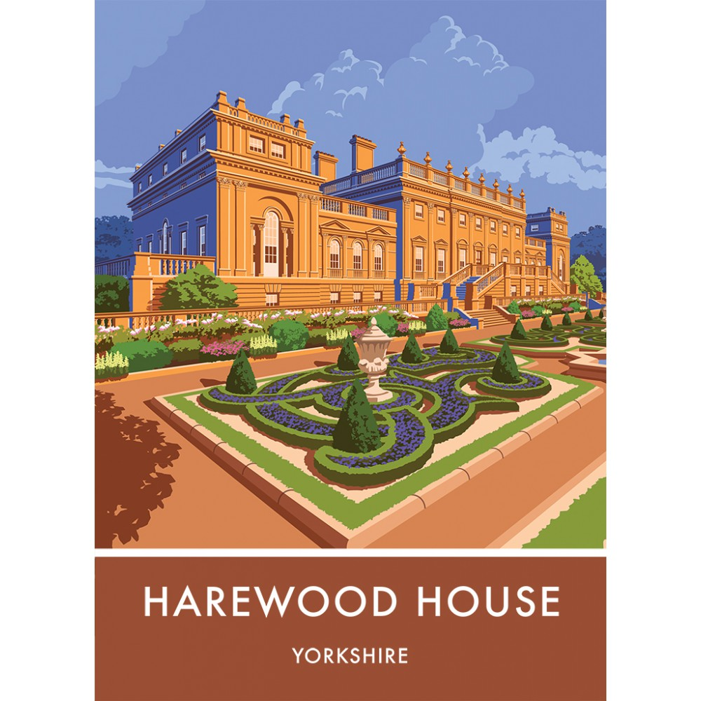 Harewood House, Leeds, Yorkshire 20cm x 20cm Mini Mounted Print