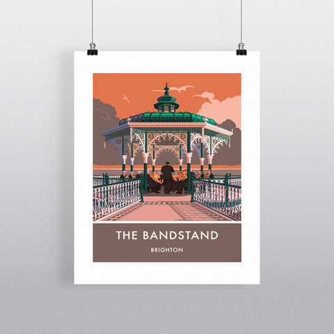 Brighton Bandstand, Brighton, Sussex 20cm x 20cm Mini Mounted Print