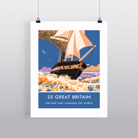 The SS Great Britain 20cm x 20cm Mini Mounted Print