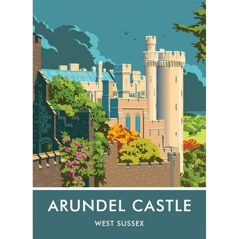 Arundel Castle, Arundel, Sussex 20cm x 20cm Mini Mounted Print