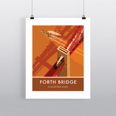 Forth Bridge, Edinburgh 20cm x 20cm Mini Mounted Print