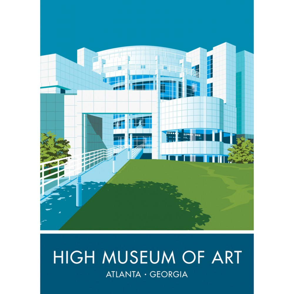 Museum Of High Art, Atlanta, Georgia 20cm x 20cm Mini Mounted Print
