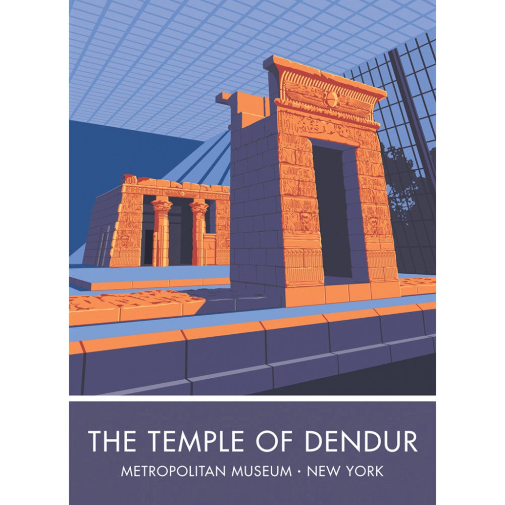 The Temple of Dendur, Metropolitan Museum, New York 20cm x 20cm Mini Mounted Print