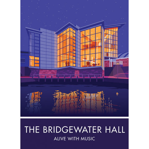 The Bridgewater Hall, Manchester 20cm x 20cm Mini Mounted Print