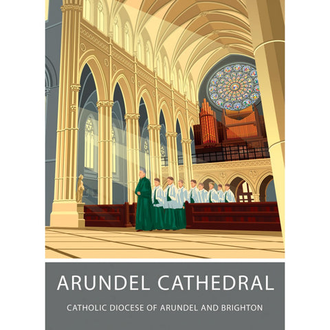 Arundel Cathedral, Arundel, Sussex 20cm x 20cm Mini Mounted Print