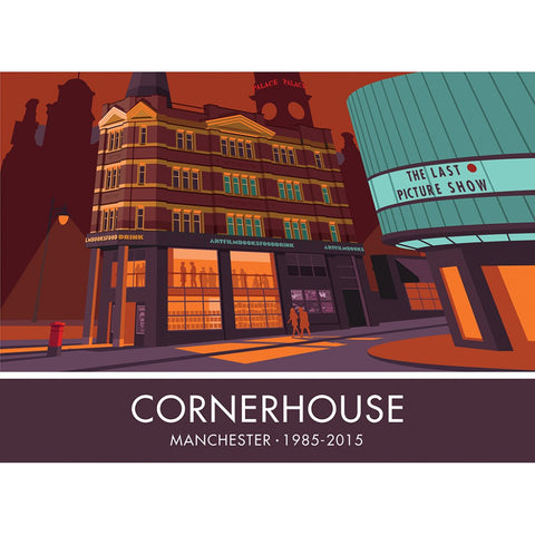 The Cornerhouse, Manchester 20cm x 20cm Mini Mounted Print