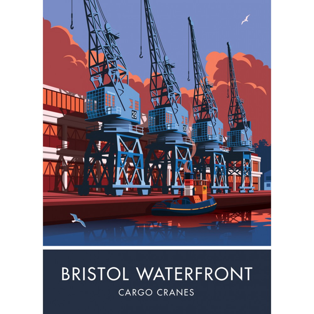 Bristol Waterfront, Bristol 20cm x 20cm Mini Mounted Print