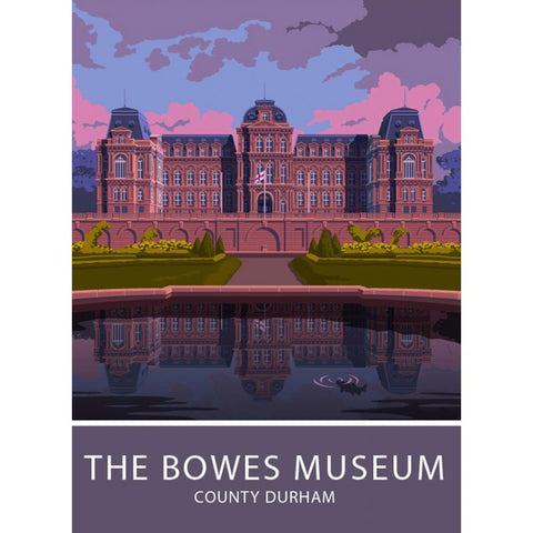 The Bowes Museum, Durham 20cm x 20cm Mini Mounted Print