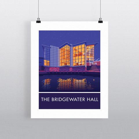 The Bridgewater Hall, Manchester, Cheshire 20cm x 20cm Mini Mounted Print