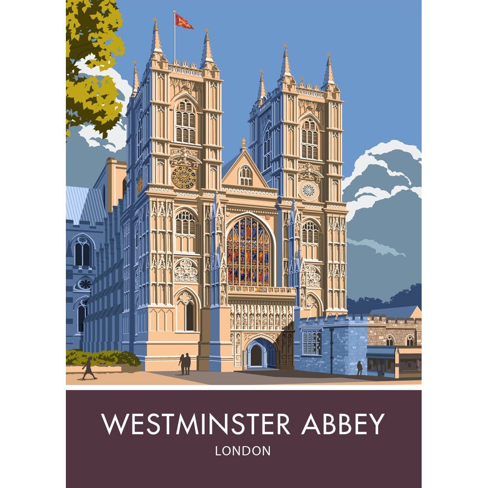 Westminster Abbey, London, London 20cm x 20cm Mini Mounted Print