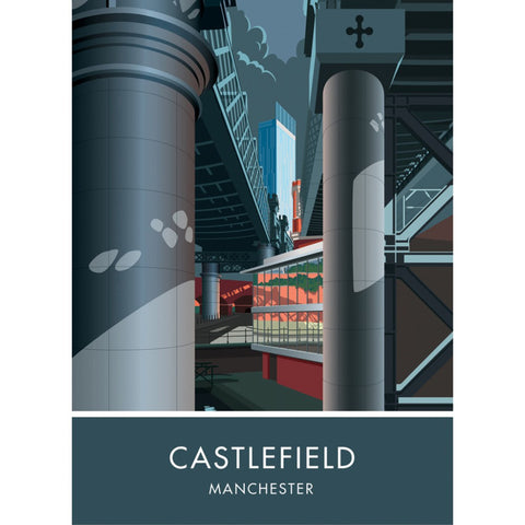 Castlefield, Manchester, Cheshire 20cm x 20cm Mini Mounted Print