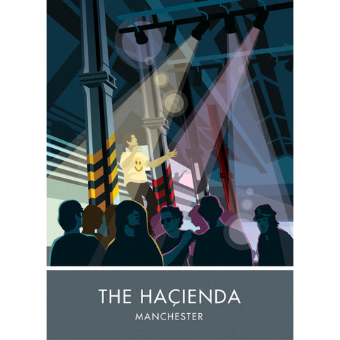 The Hacienda, Manchester 20cm x 20cm Mini Mounted Print