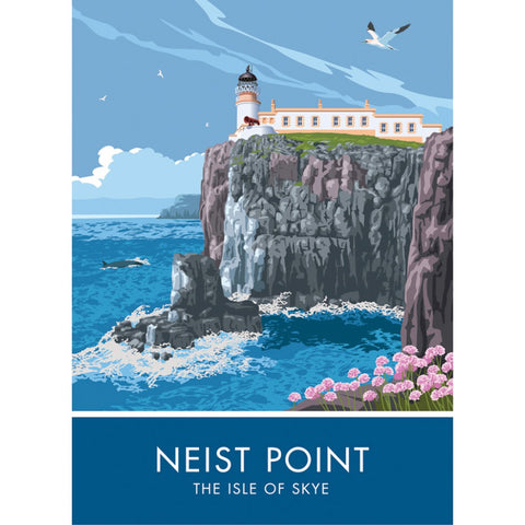 Neist Point, Isle Of Skye, Scotland 20cm x 20cm Mini Mounted Print