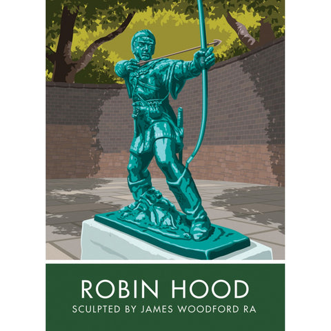 Robin Hood, Nottingham 20cm x 20cm Mini Mounted Print