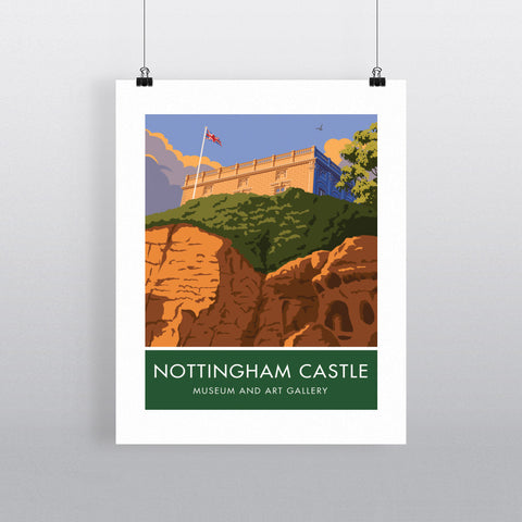 Nottingham Castle, Nottingham 20cm x 20cm Mini Mounted Print