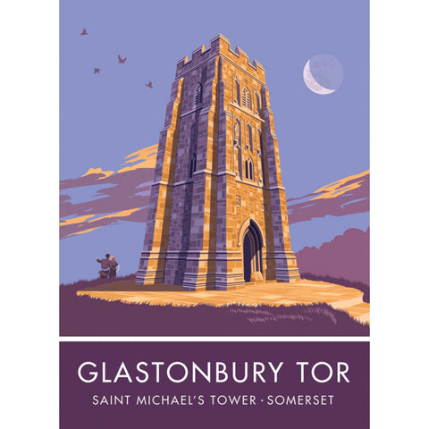 Glastonbury Tor, Glastonbury, Somerset 20cm x 20cm Mini Mounted Print