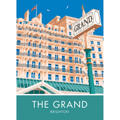 The Grand Hotel, Brighton, Sussex 20cm x 20cm Mini Mounted Print