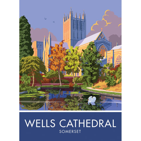 Wells Cathedral, Somerset 20cm x 20cm Mini Mounted Print