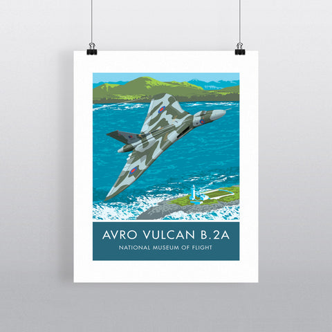 Avro Vulcan B2A, National Museum of Flight 20cm x 20cm Mini Mounted Print